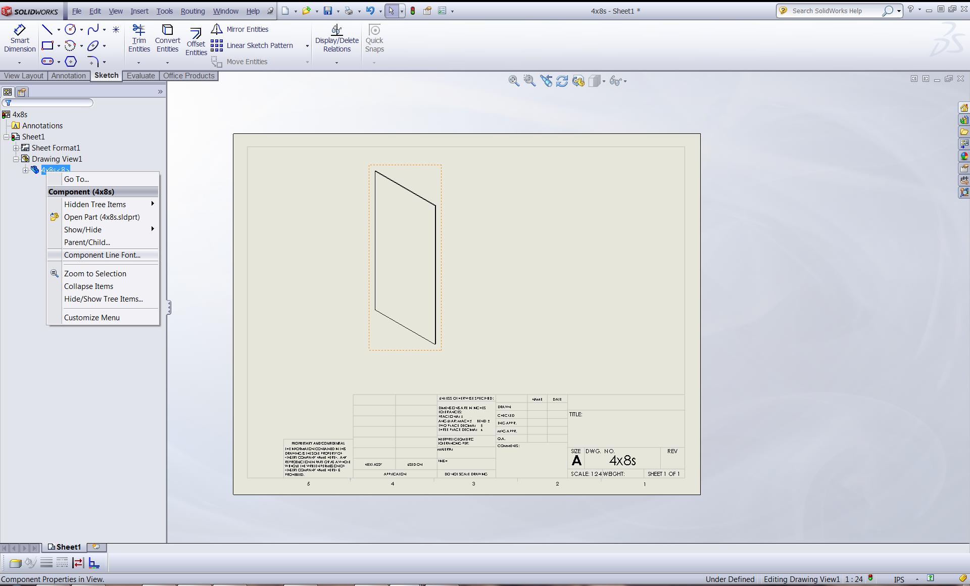 Component line font1