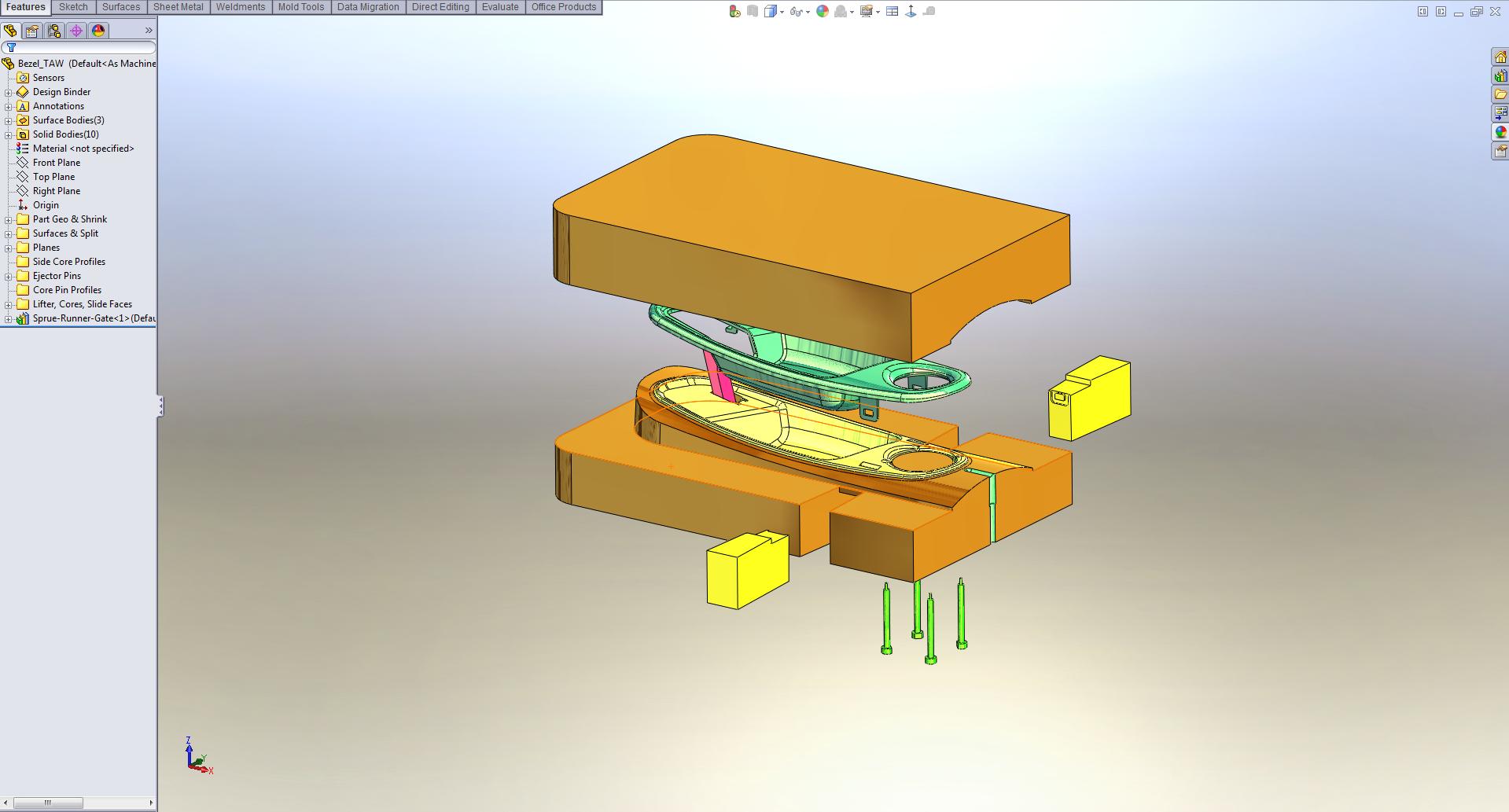 Multibody Cavity Build