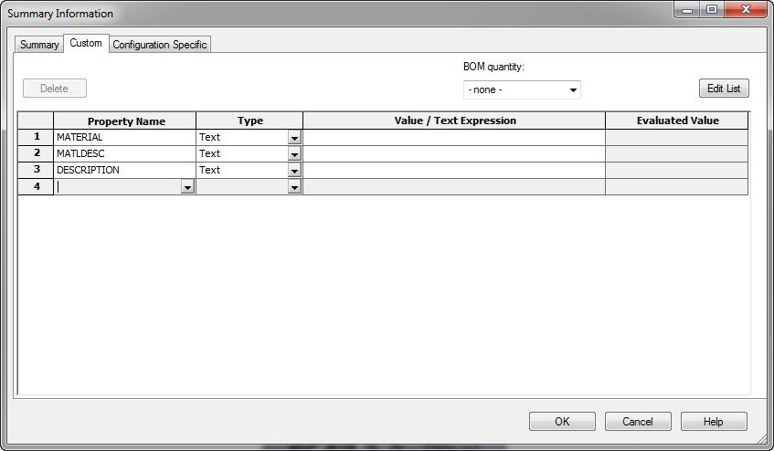 Custom Property screenshot