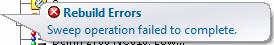 Sweep error