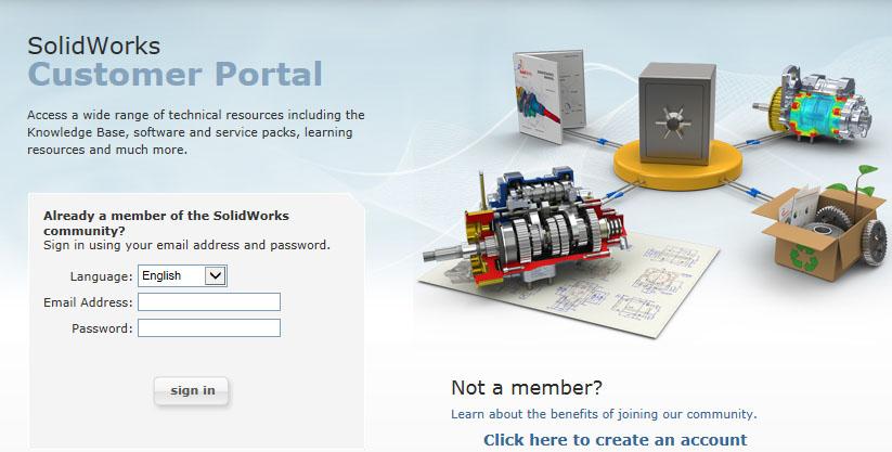 Solidworks_customer_portal_login