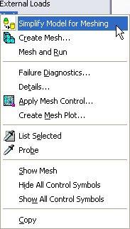 mesh menu