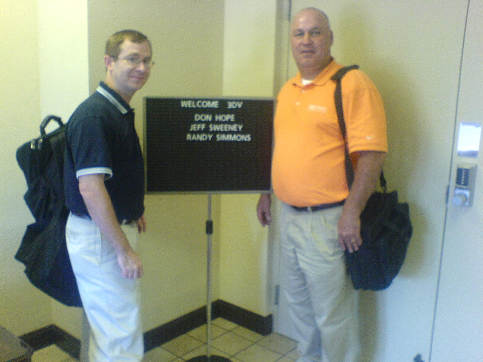 Don Hope and Jeff Sweeney make a visit in Sidney Ohio