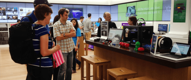 Makerbot at Microsoft Store