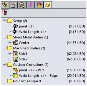 Costing Folders Multibody