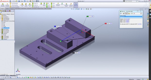 SOLIDWORKS Center of Mass Tool