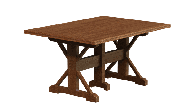 Closed Table Rendered in SOLIDWORKS Drawings