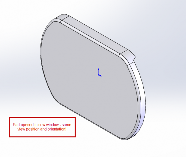 SOLIDWORKS 2015 Open model in position - part