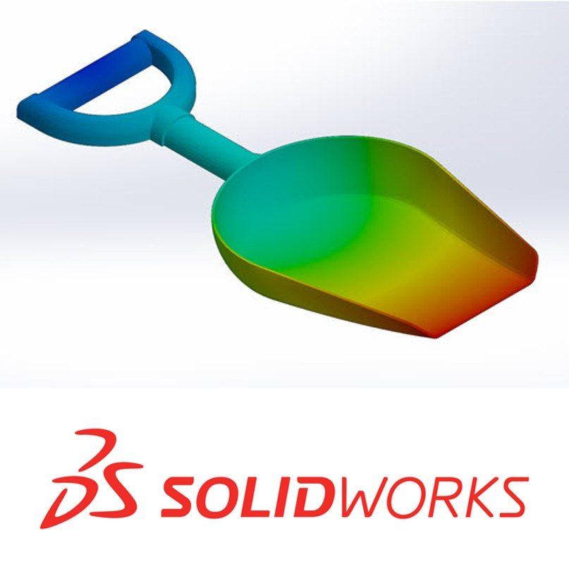 SOLIDWORKS Plastics Shovel