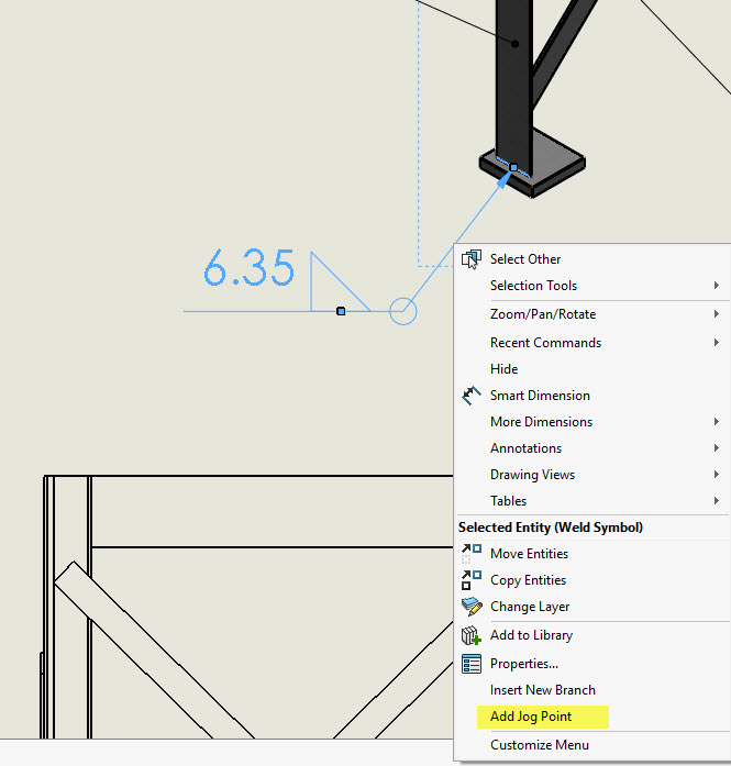 How To Create A Jog In A Solidworks Weld Symbol Computer Aided